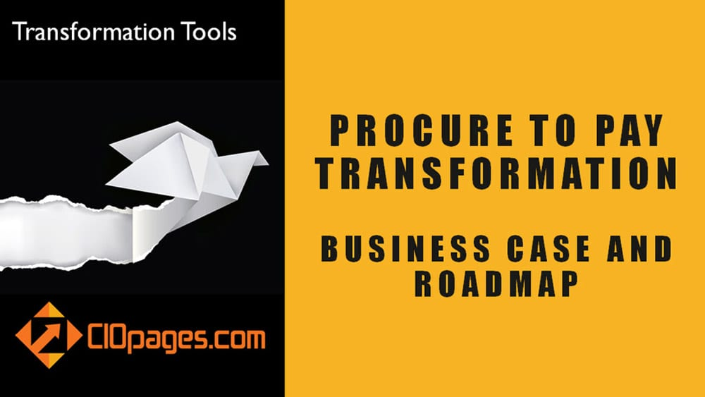 Procure to Pay Transformation Strategy and Roadmap