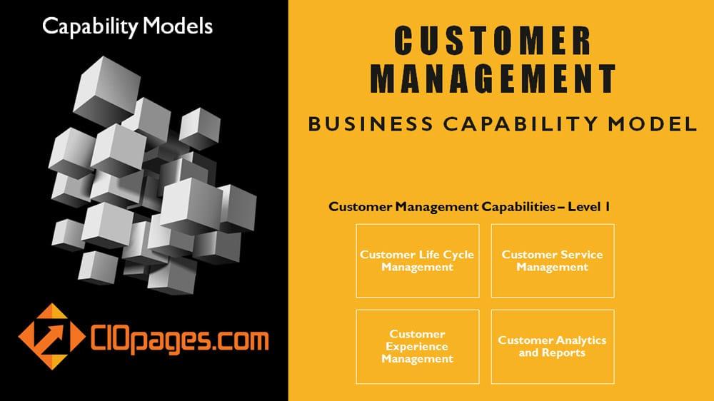 Customer Management Business Capability Model