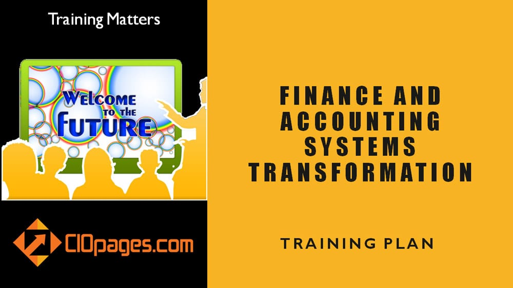Accounting and Finance Transformation Training Plan