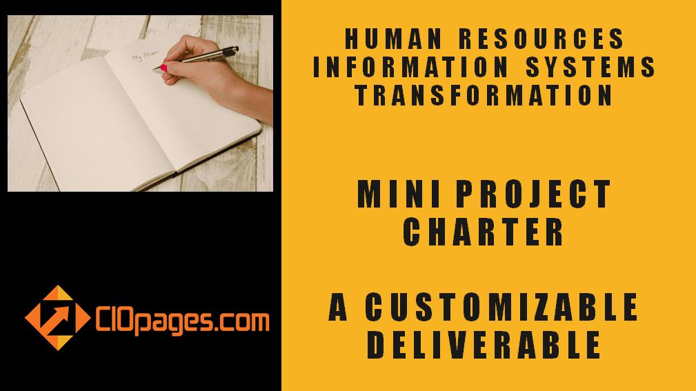 HR Transformation Mini Project Charter