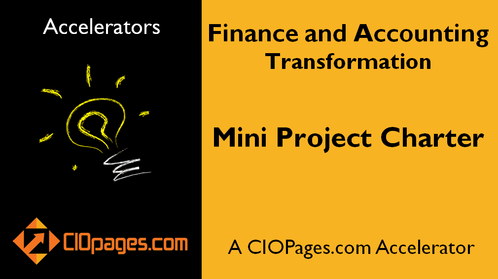 Finance Transformation Mini Project Charter
