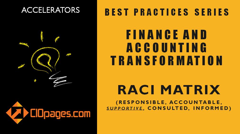 Finance Transformation Project RACI Matrix