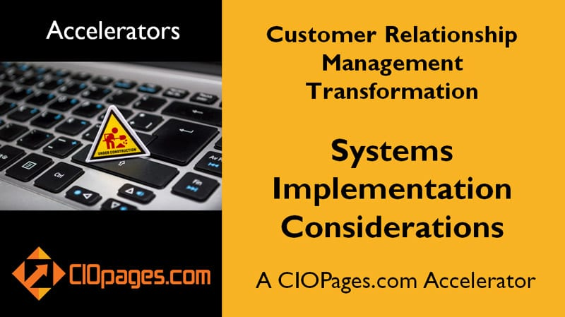 CRM Transformation Implementation Considerations