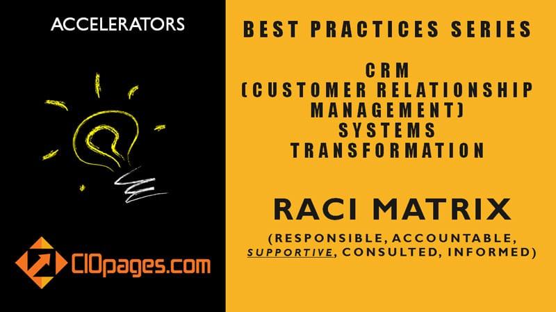 CRM Transformation Project RACI Matrix