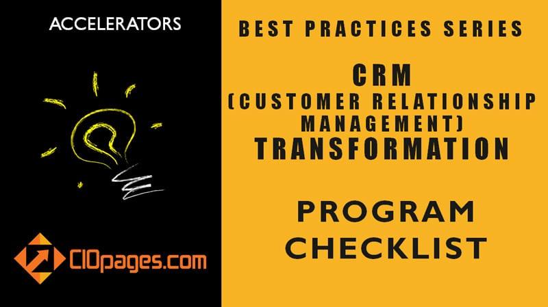 CRM Transformation Project Checklist