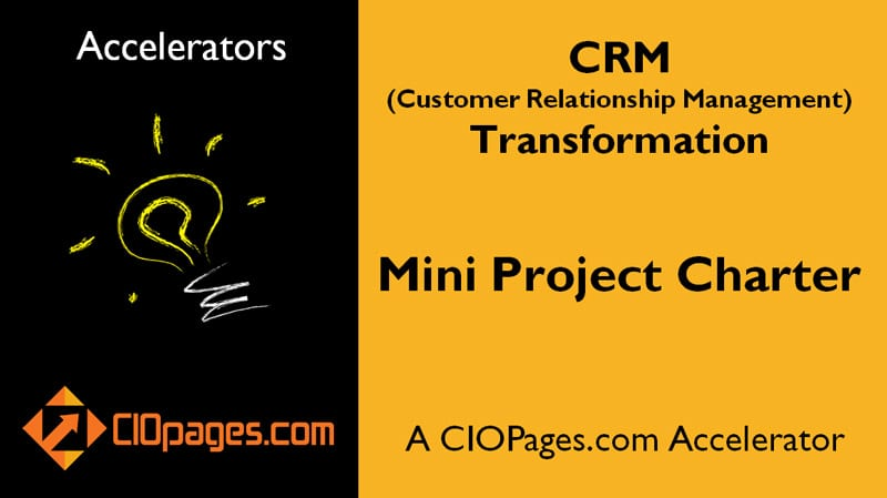 CRM Transformation Mini Project Charter