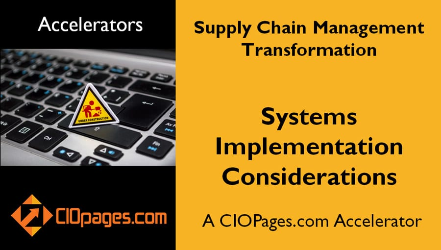 Supply Chain Transformation Implementation Considerations