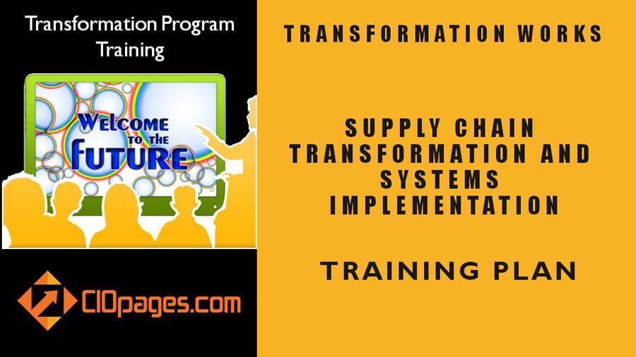 Supply Chain Transformation Training Plan