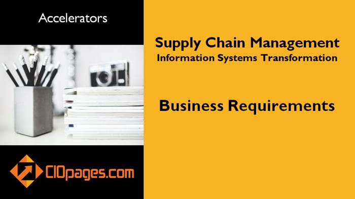 Supply Chain Management Business Requirements