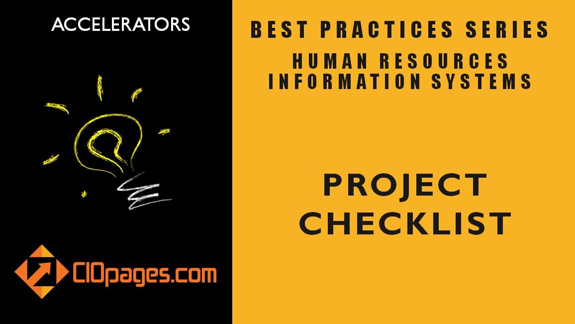 HR Transformation Project Checklist