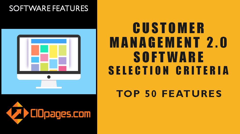 Customer Management Software Top 50 Features