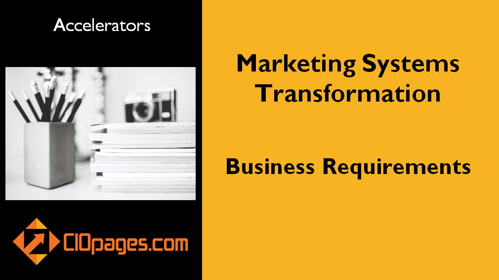 Marketing Transformation Business Requirements