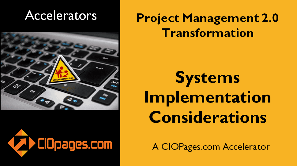Project Management Transformation Implementation Considerations