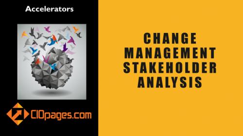 Change management stakeholder analysis