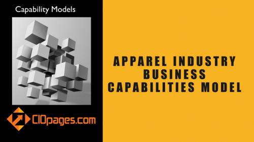 Apparel Industry Business Capabilities Model