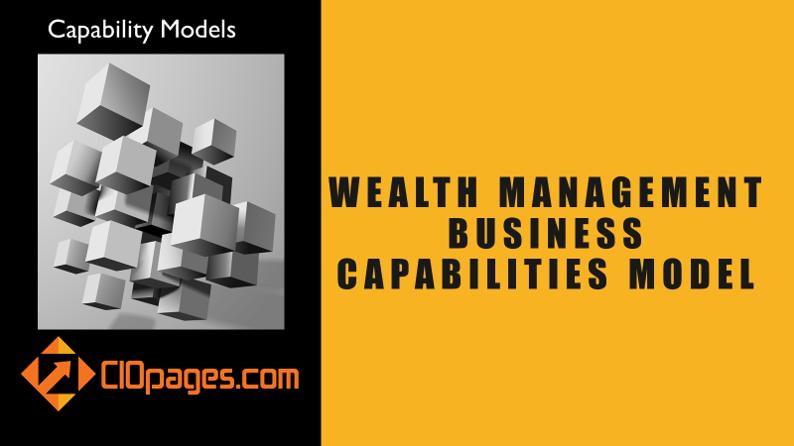 Wealth Management Business Capabilities Model