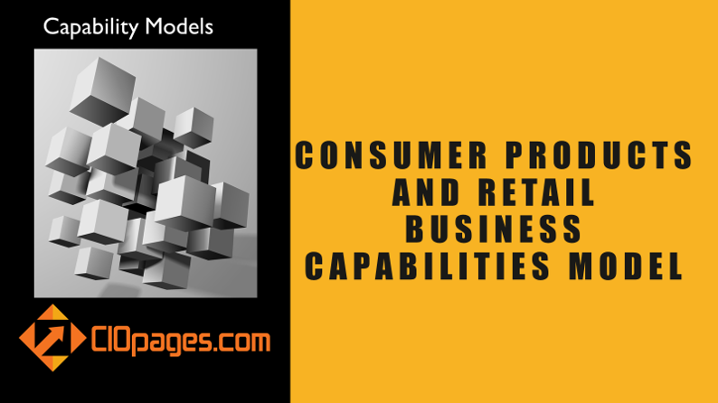 Consumer Products and Retail Business Capabilities Model